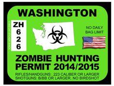 Washington Zombie Hunting Permit