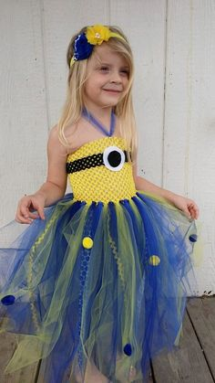 Minion Tutu dress and headband by SassyLittleLadies on Etsy, $40.00