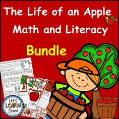 Apple Life Cycle Math and Literacy Activities Bundle
