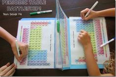 FREE Science Game: Periodic Table Battleship - What a fun way for elementary age kids to become familiar with the periodic table in school or homeschool.