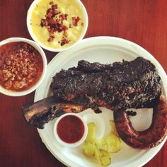 beef rib and sausage, Pecan Lodge, Dallas