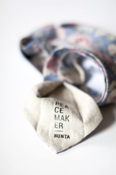 Bunta Peacemaker floral tie  Label  Photo: Nat Rusinowska  #tie #floral #menswear
