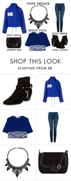 """You Blue It"" by latoyacl ❤ liked on Polyvore featuring Yves Saint Laurent, Être Cécile, Emilio Pucci and NYDJ"