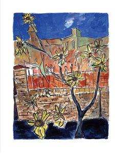 www.canvasgallery.com Bob Dylan Sunflowers 2014