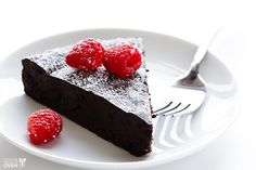 Gluten free Chocolate Torte - three ingredients, the best ever, seriously, you have to make this.