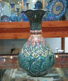 Mina Enamel Decorative Vase - Small