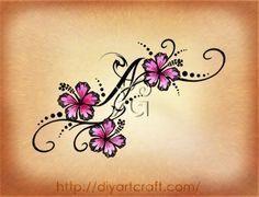 hawaiian flower tattoo on wrist - add kids initials & birthdates Tattoos For Women Flowers, Foot Tattoos For Women, Small Tattoos, Tattoo Kind, Tatoo Art, Tattoo Designs For Girls, Flower Tattoo Designs, Neue Tattoos, Body Art Tattoos