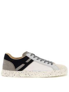 huge selection of 30741 086e8 HOGAN Sneaker Hogan Rebel R141 In Grey And White Nabuk And Fabric. hogan