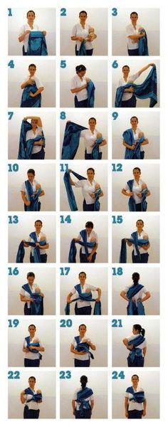 Comment réaliser le noeud de base pour porter bébé en écharpe ?