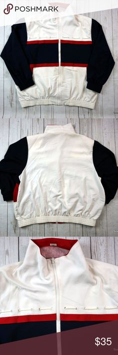 """VTG Alfred Dunner Nautical Jacket, Women's Size 20 Vintage Alfred Dunner Nautical Jacket, Women's Size 20, 20W, Boating Style Jacket, 80s Fashion, Alfred Dunner Jacket, Shoulder Pads, VTG  Brand: Alfred Dunner Size: Women's 20 Material: 77% Polyester, 23% Rayon  Detailed Measurements: (Front Side of Garment has been measured laying flat on a table)  Sleeves:     23"""" inches  Chest:         27"""" inches Length:       29.5"""" inches   Ships in 24 hrs or less from a clean & smoke free…"""