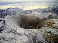 Bingham Canyon Mine (aka Kennecott Copper Mine), Utah, USA  Photo credit: Michael Lynch