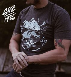 Give Them Hell. T-Shirt available in BLACK & CHARCOAL. Link in bio. #tshirt #givethemhell #eagle #dopeclothing #shop #clothing #etsy #etsyseller #art #tee #fearless #lifemotto #apparel #mensfashion #austin #wildandfree #instafashion #fashionart #grz #1985 #cool #dope #tattoo #bird