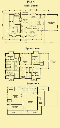 Farmhouse Floor Plans, In Law Apartment Plans & Farm House Plans--minus attached garage and master suite on upper level
