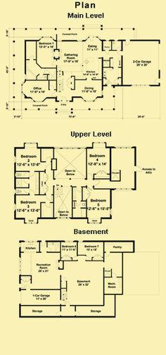 Farmhouse Floor Plans, In Law Apartment Plans & Farm House Plans