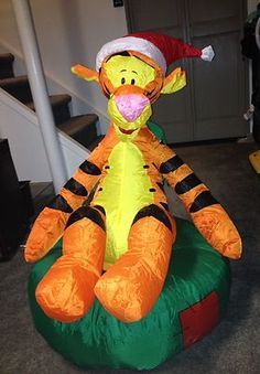 Disney Christmas Tigger with Snowballs Lighted Airblown Inflatable . Christmas Blow Up, Disney Christmas, Halloween Christmas, Outdoor Christmas, Christmas Holidays, Christmas Decorations, Tigger And Pooh, Eeyore, Lowes Home Depot