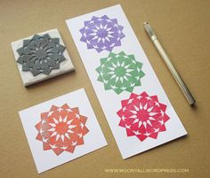islamic art geometric arabic stamp carving block - ختم نقوش إسلامية Stamp Carving, My Stamp, Islamic Art, Cards, Maps