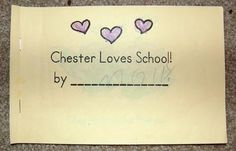 Chester loves school - Kissing Hand mini book for first day of school Beginning Of Kindergarten, Kindergarten Themes, Beginning Of School, 1st Day Of School, School Days, School Stuff, Education And Literacy, Literacy Activities, Mini Books
