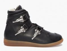 Maison Martin Margiela Buckle Sneakers - Reminds me of vintage leather ski boots!