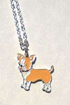Chihuahua Charm Necklace Enamel Dog by CraftedwithloveGifts