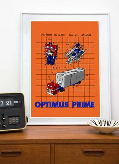 TRANSFORMERS Optimus Prime patente imprimir 8 x 10 A4 por Nirahlee