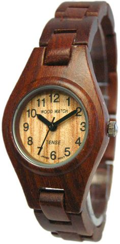Tense Wooden Watches: Unique time-pieces made in Canada : Women's Sandalwood Bracelet [L7509S] - $115.00USD