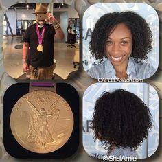 gold medalist Allyson Felix with her new haircut by Shai Amiel www.ShaiAmiel.com