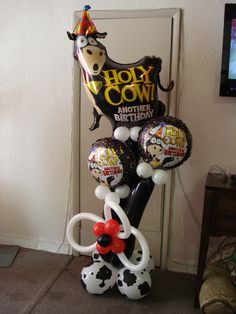 Holy Cow birthday arrangement!