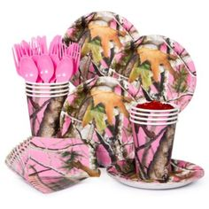 Pink Camo Standard Kit - Party Decorations & Supplies from Birthday in a Box