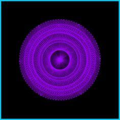 Mandala von der Lebensblume, rein männliche Form und einfarbig