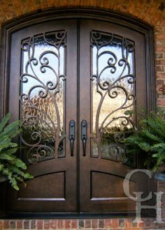 New wrought iron front door entrance Ideas House Doors, Entrance Doors, Double Door Entryway, Beautiful Doors, Door Entryway, Wrought Iron Front Door, Front Door Design
