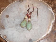 Handcrafted Turquoise Pierced Earrings by TrendyCharm on Etsy, $8.00