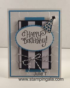 Birthday card featuring Stampin Up's Better Together stamp set, Pop of Pink Designer Series Paper and Layering Ovals Framelits Dies.  All new products in the Annual 2016-2017 catalog, Details on my blog www.stampingala.com.