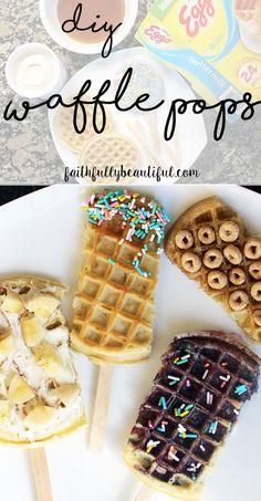 DIY Waffle Pops, Making Breakfast Fun, Kids Breakfast Ideas, #LeggoMyEggo #HearTheNews #ad