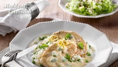 Rezept Schnitzel lecker Reis Gericht Erbsen Kapern Hausmannskost