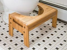 Squatty Potty: Squatty Tao Bamboo, Squatting Stool This is great. Highly recommend it.