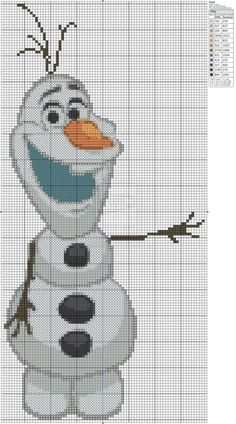 Frozen - Olaf Cross Stitch Pattern: