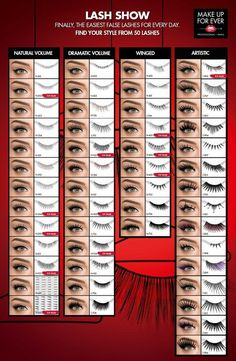 Makeup Forever has the best fake eyelashes!