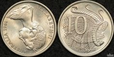 An upset coin is produced during minting when the dies for the reverse and obverse of the coin are not aligned correctly. This may be because it was incorrectly installed in the press or it rotated during the production run of coins. Advance Australia Fair, Rare Coins Worth Money, Australian Money, Seal Of Solomon, Money Notes, Foreign Coins, Coin Worth, Error Coins, Coin Collecting