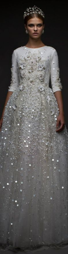 Chana Marelus. Wedding gown with star tiara, crown // Pinned by Dauphine Magazine x Castlefield - Curated by Castlefield Bridal & Branding Atelier and delivering the ultimate experience for the haute couture connoisseur! Visit www.dauphinemagazine.com, @dauphinemagazine on Instagram, and @dauphinemag on Pinterest • Visit Castlefield: www.castlefield.co and @ castlefieldco on Instagram / Luxury, fashion, weddings, bridal style, décor, travel, art, design, jewelry, photography, beauty…
