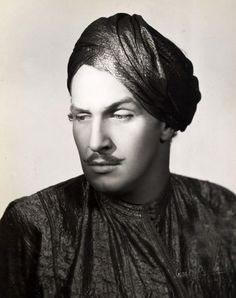 Vincent Price in a turban