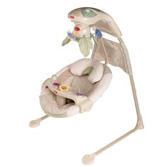 $70 Fisher Price Nature's Touch Swing, Beige