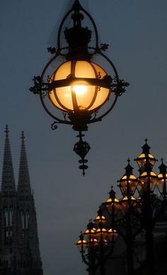 Rathaus & Votivkirche by vasekk, via Flickr
