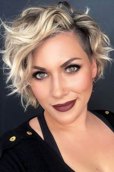 30 Best Short Haircuts for Women Side Parted Wavy Pixie With Undercut Girls Short Haircuts, Short Hairstyles For Thick Hair, Short Hair Cuts For Women, Short Curly Hair, Hairstyles Haircuts, Curly Hair Styles, Short Wavy Pixie, Pixie Cut, Pixie Haircuts