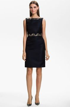 St. John Collection Hand Beaded Duchesse Satin Dress available at #Nordstrom