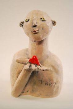 Ceramic Art by Denise Greenwood Loveless Ceramic Angels, Clay Figures, Driftwood Art, Angel Art, Doll Head, City Art, Art Festival, Ceramic Art, Unique Art