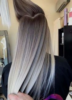 we rounded up 30 hair color ideas you can try if you have lo.- we rounded up 30 hair color ideas you can try if you have long hair! we rounded up 30 hair color ideas you can try if you have long hair! 30 Hair Color, Hair Color Shades, Ombre Hair Color, Hair Color Balayage, Balayage Hairstyle, Grey Ombre, Hair Updo, Hair Colour Ideas, Natural Ombre Hair