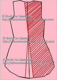 El Rincon De Celestecielo: Trazar cola de pato en espalda de blusa y vestido. Parte 2 Line Chart, Couture, Uni, Kimono, Necklaces, Big Sizes, Ideas, Sewing Lessons, Sewing Techniques
