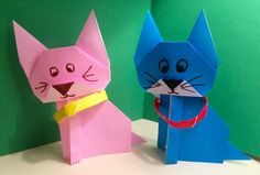Origami cats! You've gotta be kitten me!