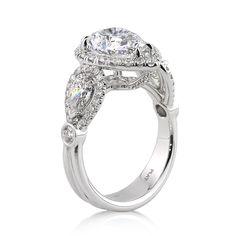 5.03ct Pear Shaped Diamond Engagement Anniversary Ring