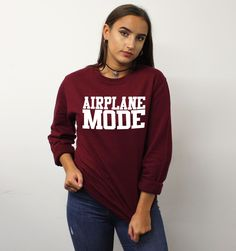 Airplane Mode Sweater Sweatshirt Jumper Mens Womens STP430 by SaveThePeople2016 on Etsy https://www.etsy.com/listing/505222956/airplane-mode-sweater-sweatshirt-jumper